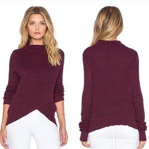 Free People | Boho Wrap Linen Crossover Sweater